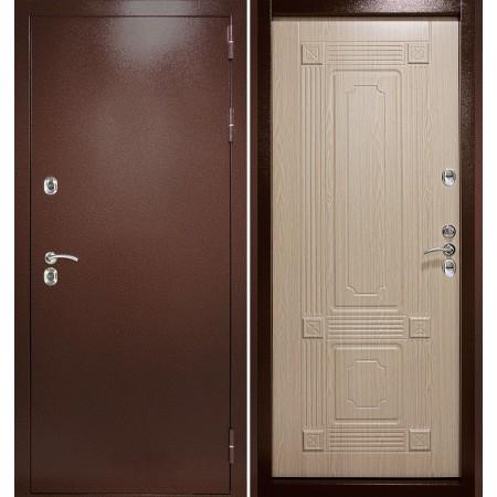 Дверь в частный дом входная с терморазрывом Континент Термаль Ультра Беленый дуб (терморазрывом)