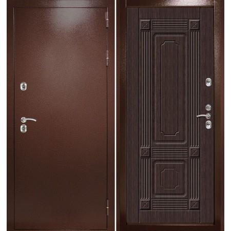 Входная дверь с терморазрывом для дома Континент Термаль Ультра Венге (морозостойкие)