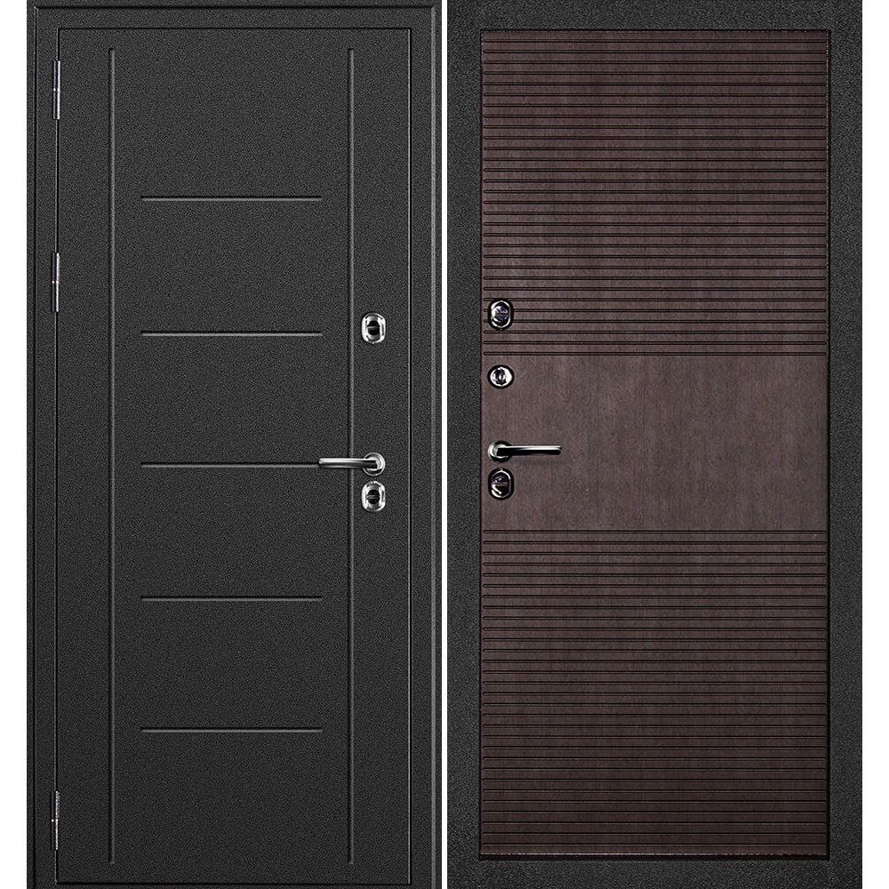 Входная дверь с терморазрывом для дома Континент Термаль Венге (морозостойкие)