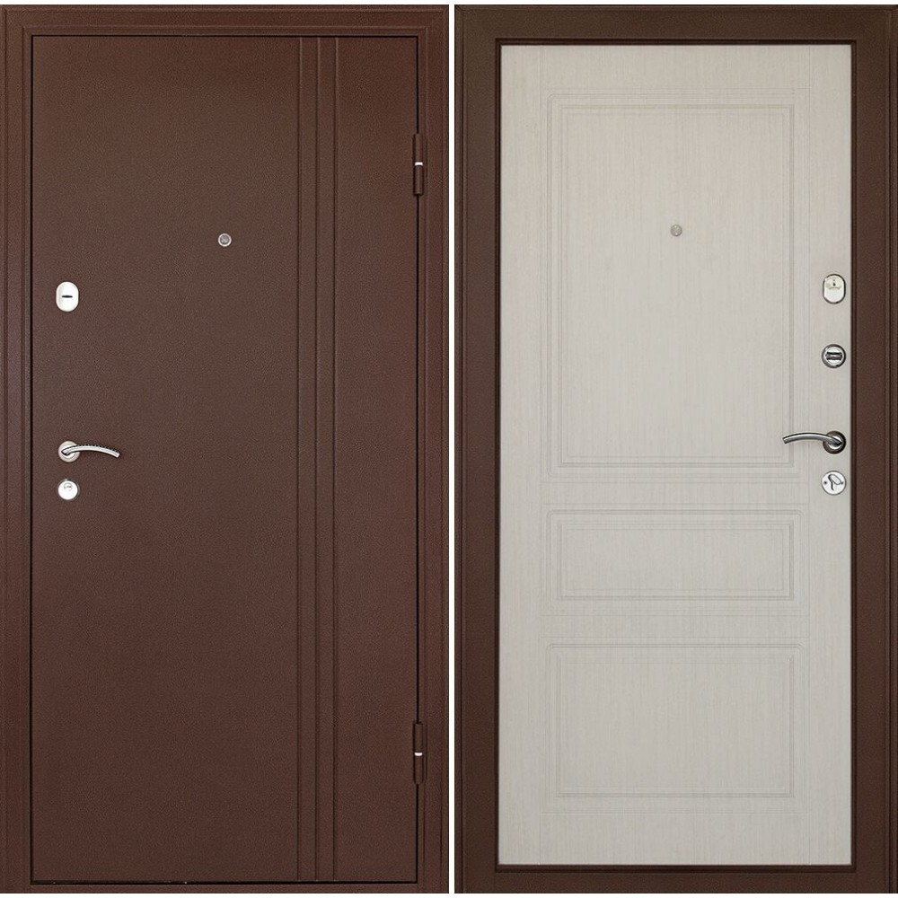 Входная дверь в квартиру Континент Турин Беленый дуб качественная