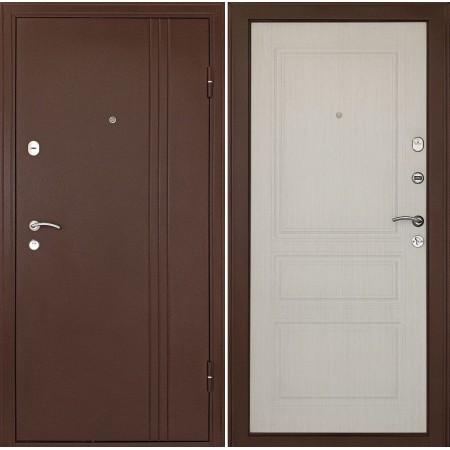 Входная металлическая дверь Континент Турин Беленый дуб (утепленные)
