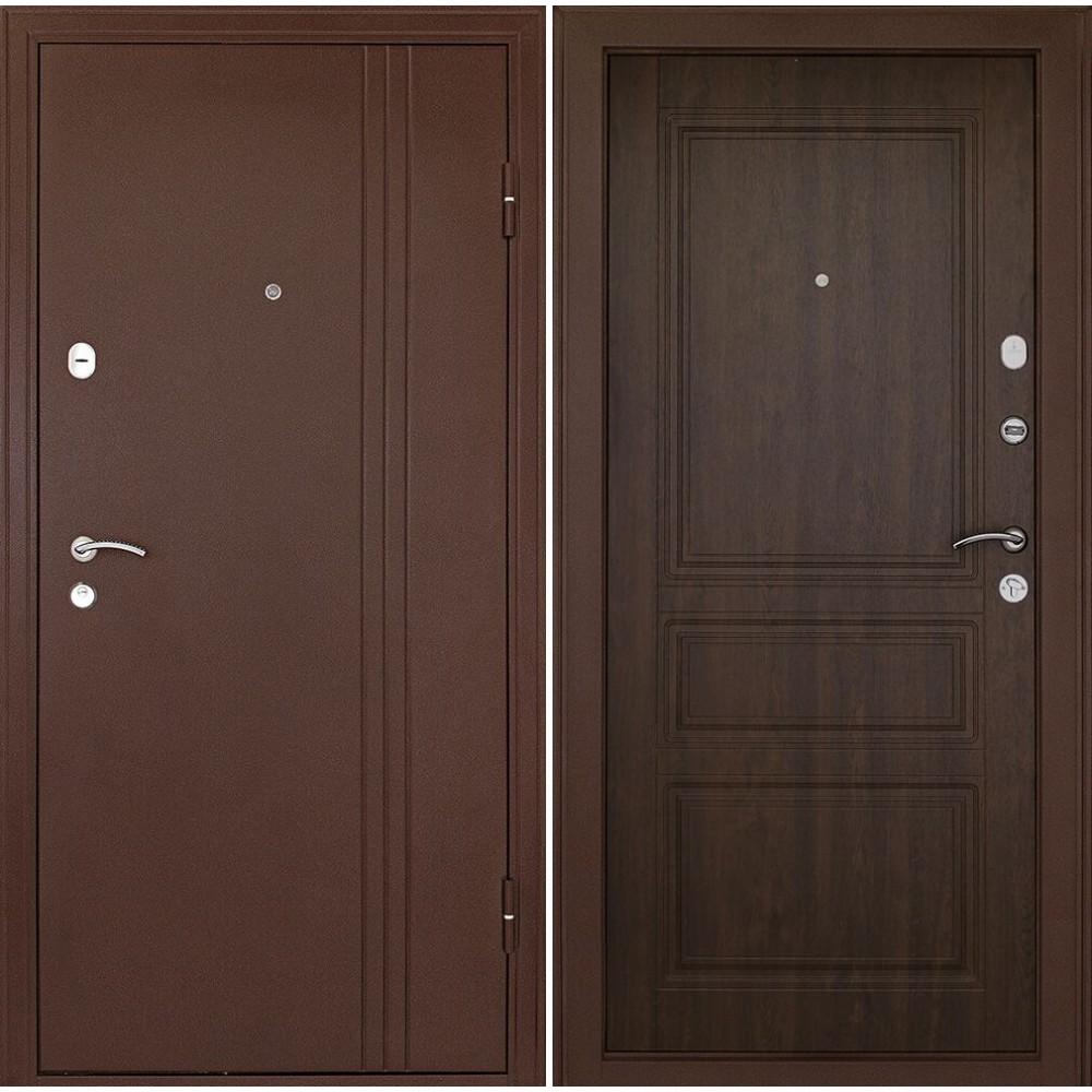 Входная дверь Континент Турин Орех (трехконтурные)