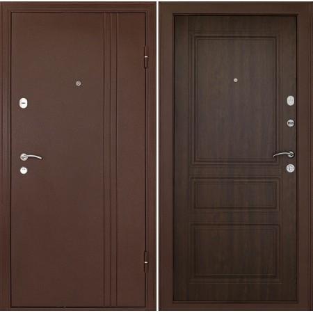 Дверь Континент Турин Орех (трехконтурные)