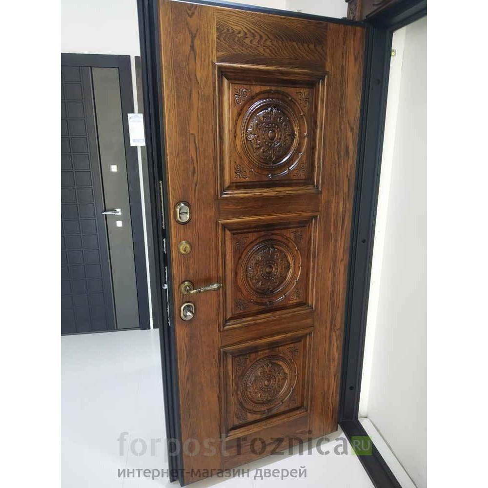 Входная дверь Континент  Масси Дуб натуральный (с шумоизоляцией)
