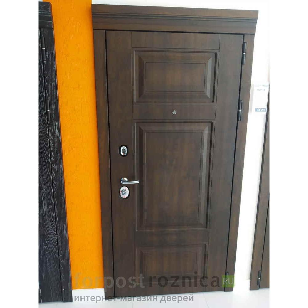 Входная дверь Континент Порта Темный орех (утеплённые)