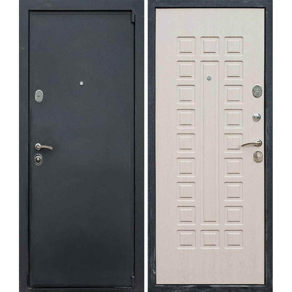 Входная дверь Лекс Гладиатор в цвете Беленый дуб