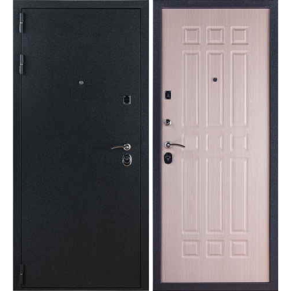 Заводские двери 3К Бархат в цвете беленый дуб
