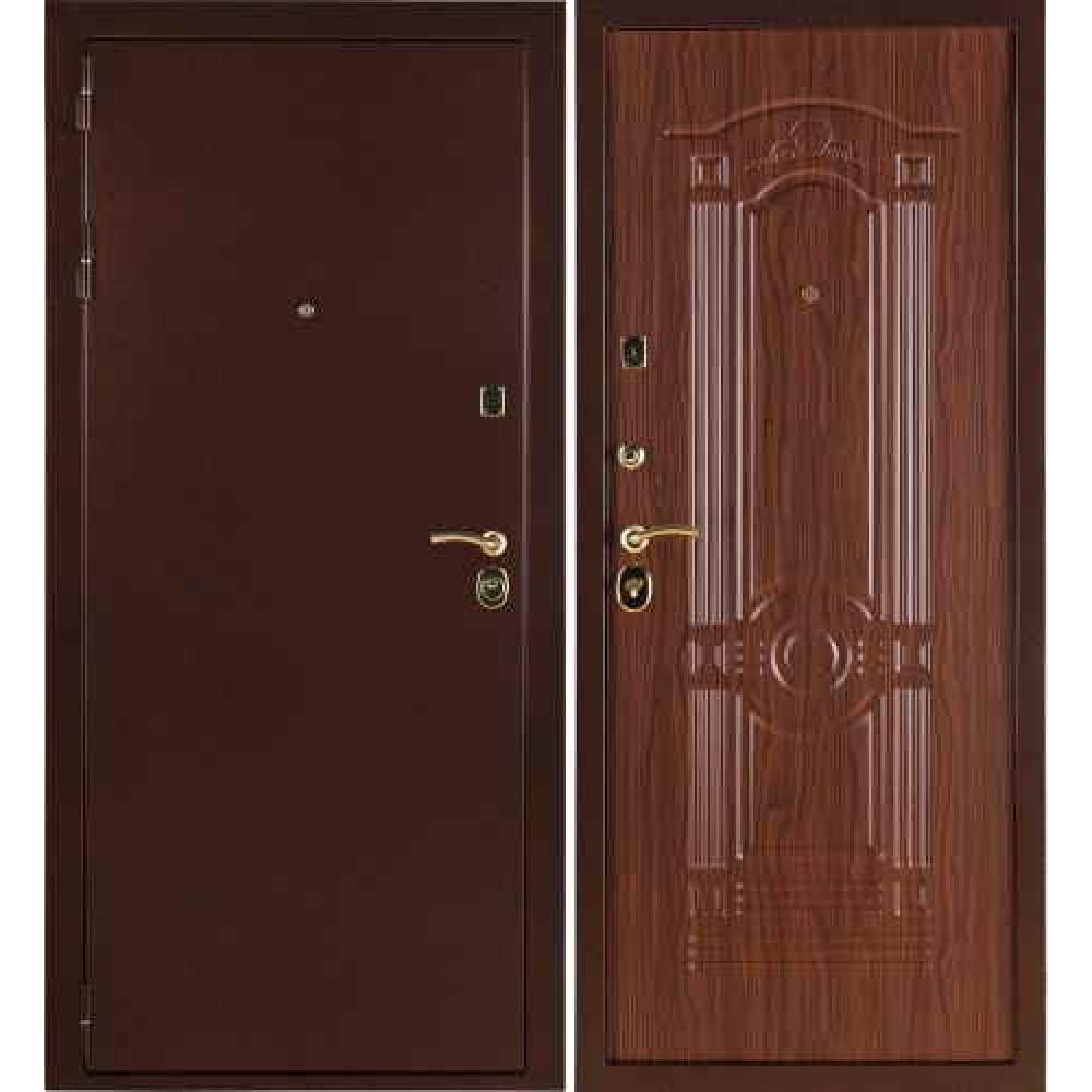 Заводские двери Стандарт 3К в цвете Орех
