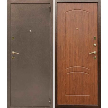 Входная дверь Лекс 1а в цвете тисненый орех