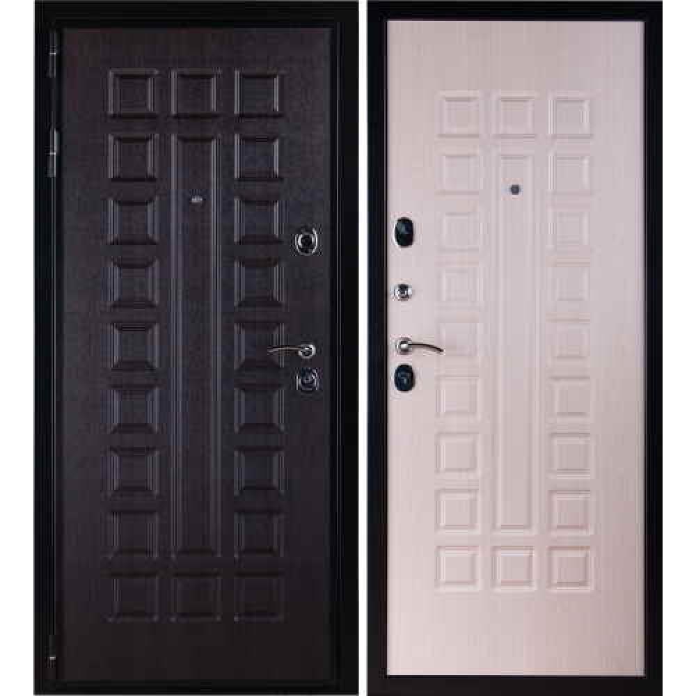 Входная дверь в квартиру Заводские двери Премиум 3К Беленый дуб