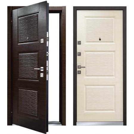 Входная дверь Мастино MONTE Темный венге/Светлый венге (Line 3) ( утепленные)