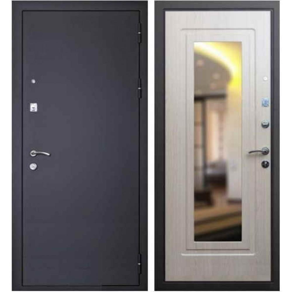 Входная дверь Кондор Престиж с зеркалом белёный дуб