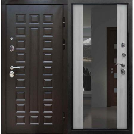 Входная дверь Сенатор Белёный Дуб Зеркало
