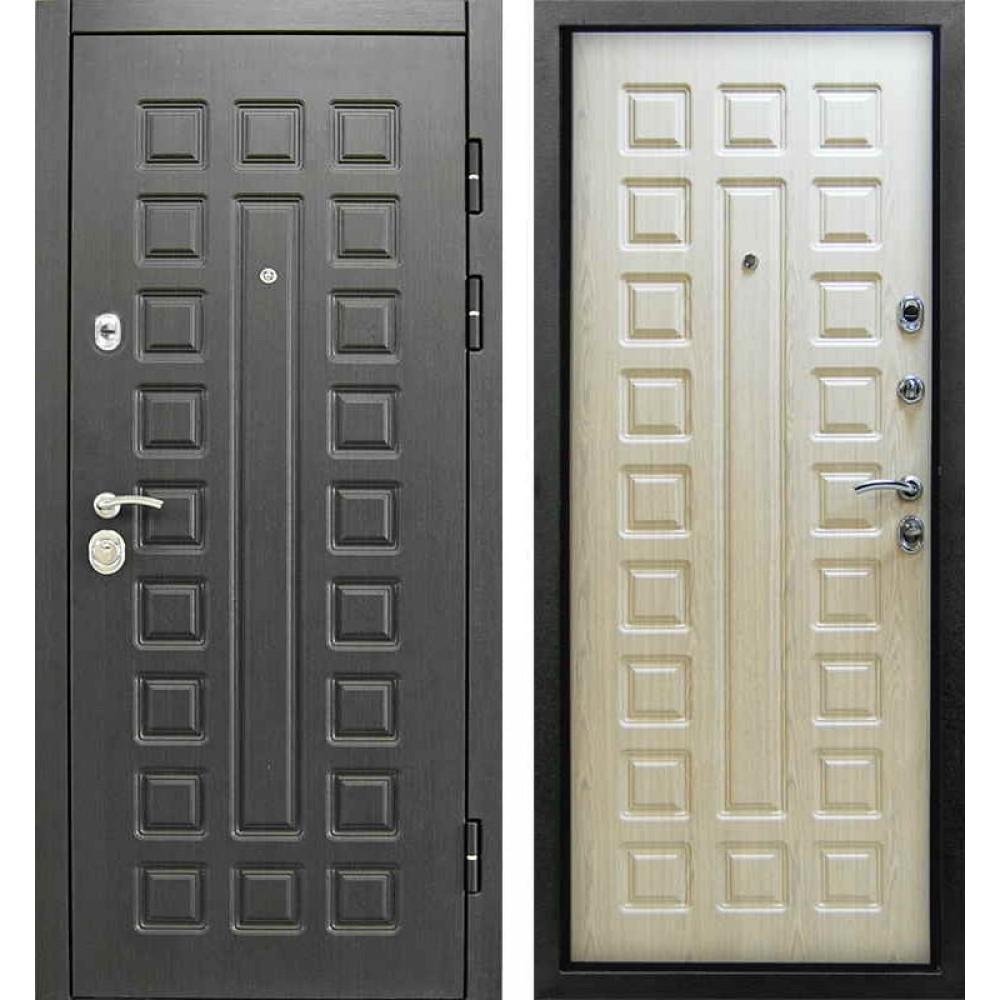 Входная дверь Сенатор 3К Винорит венге-беленый дуб (Улица)