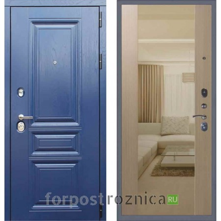 Заводские двери М600 Альберо ночи  Беленый дуб (С зеркалом)