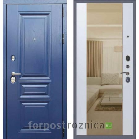 Заводские двери М600 Альберо ночи панель Софт белый (с зеркалом)