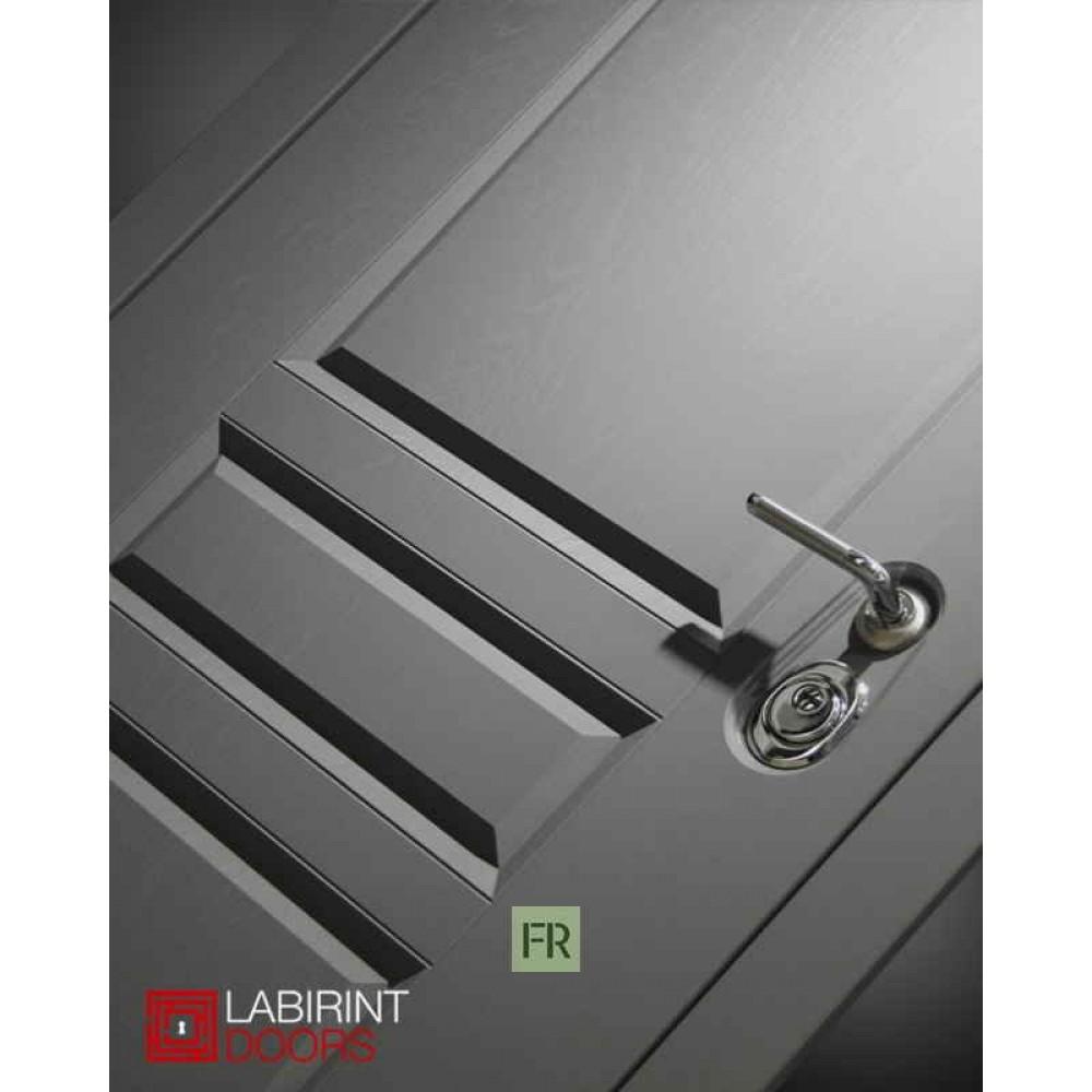Входная дверь Лабиринт Платинум 15 - Алмон 25 (утепленные)
