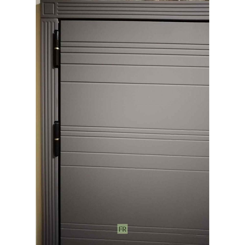 Входная дверь Лекс Легион 3К Софт графит / Баджио Ясень кремовый (панель №49)