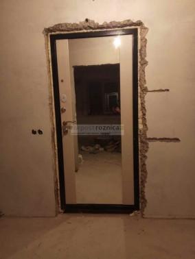 Металлическая дверь Сенатор Белёный Дуб Зеркало