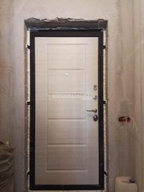 Металлическая дверь АСД Фортуна в цвете венге и беленый дуб