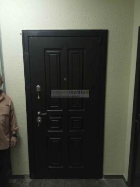 Металлическая дверь АСД Атлант в цвете беленый дуб (сейфовые)