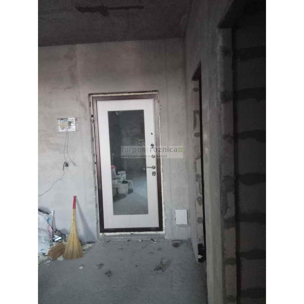 Входная дверь Ратибор Квант 3К Лиственница Беж (трехконтурные)