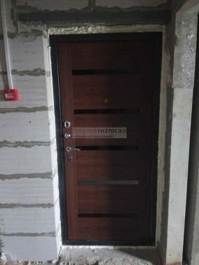 Металлическая дверь ReX Титан Орех Бренди (Антивандальные)