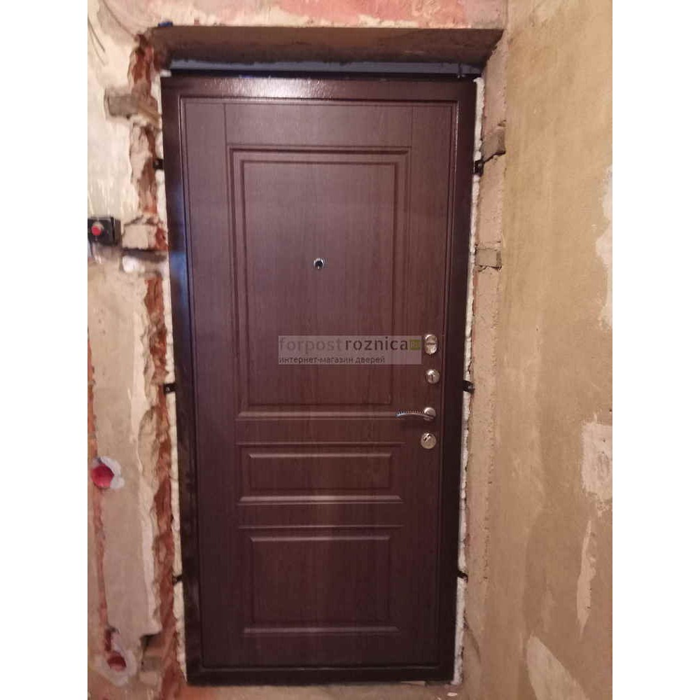 Входная дверь Ратибор Статус Венге Капучино (антивандальные)