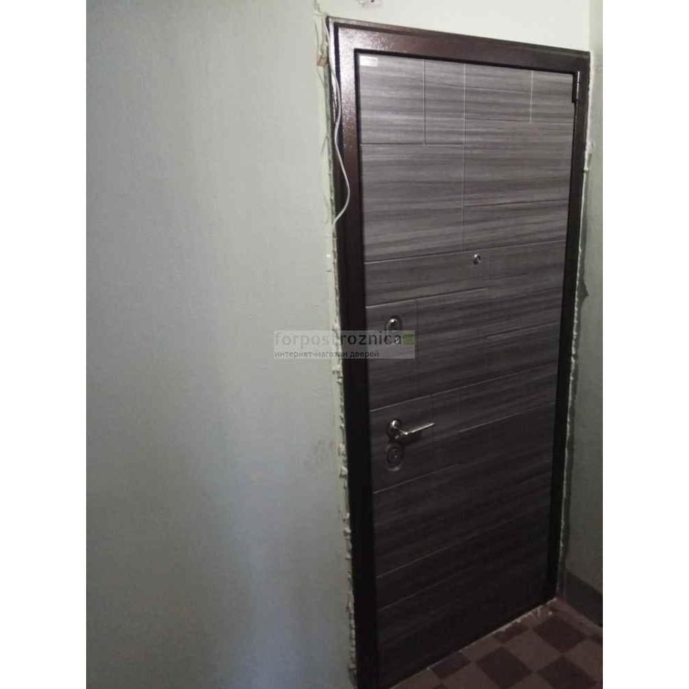 Входная дверь Ратибор Омега 3К Акация поперечная (трехконтурные)