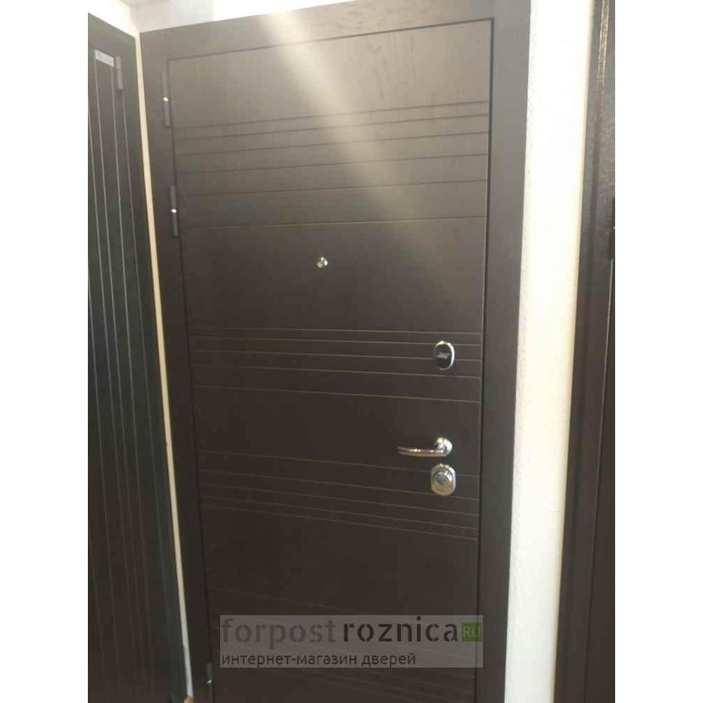 Входная дверь АСД Дуэт  в цвете Белая лиственница (с шумоизоляцией)