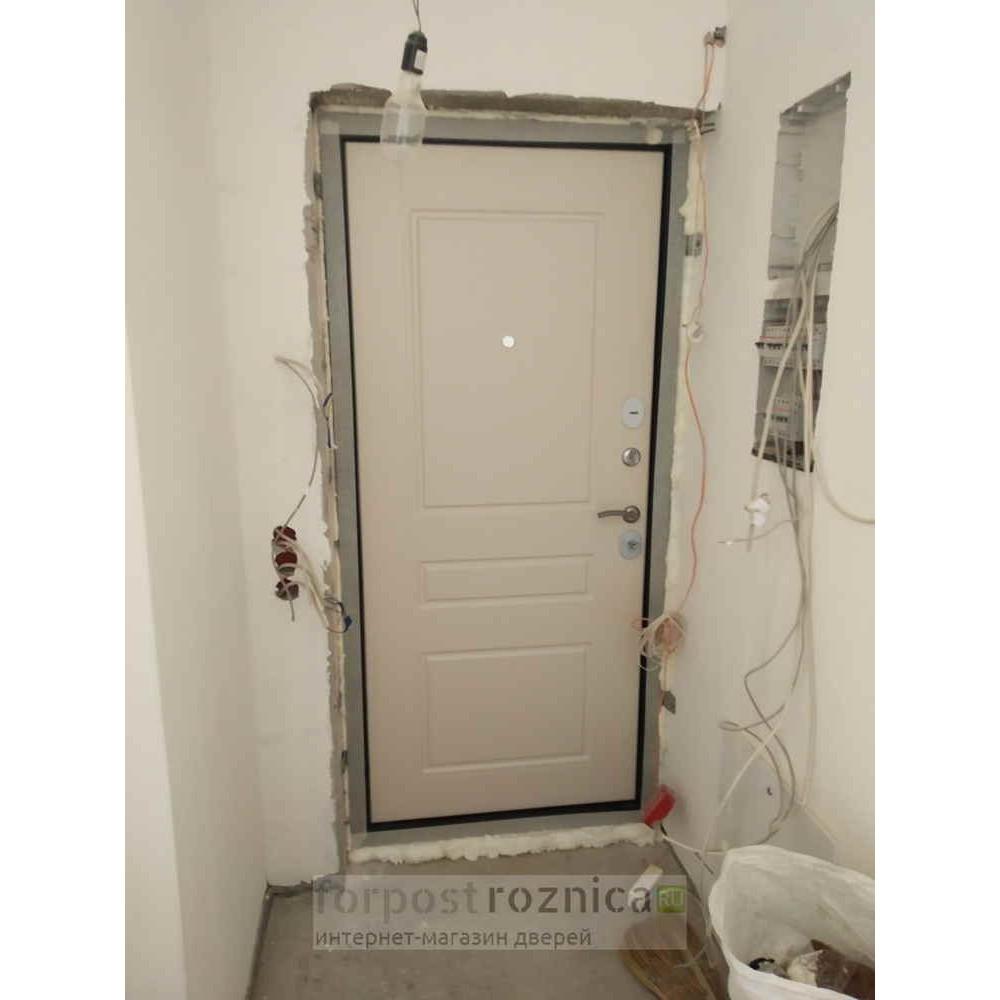 Входная дверь Лабиринт NEW YORK 03 - Крем софт (с шумоизоляцией)