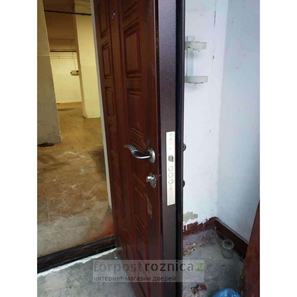 Входная дверь АСД Двустворчатая NEW в цвете темный орех (Двухстворчатые)