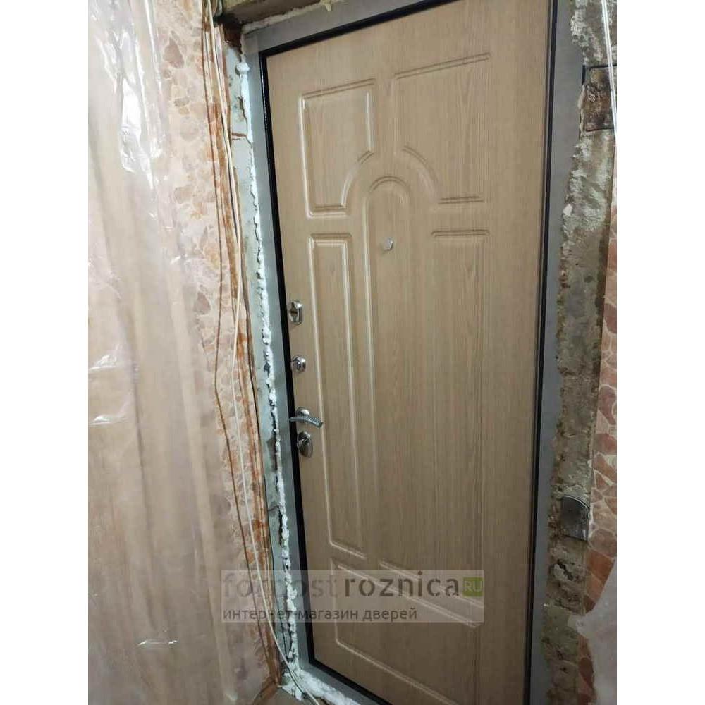 Входная дверь Рекс 5А Беленый Дуб ( Трехконтурные )