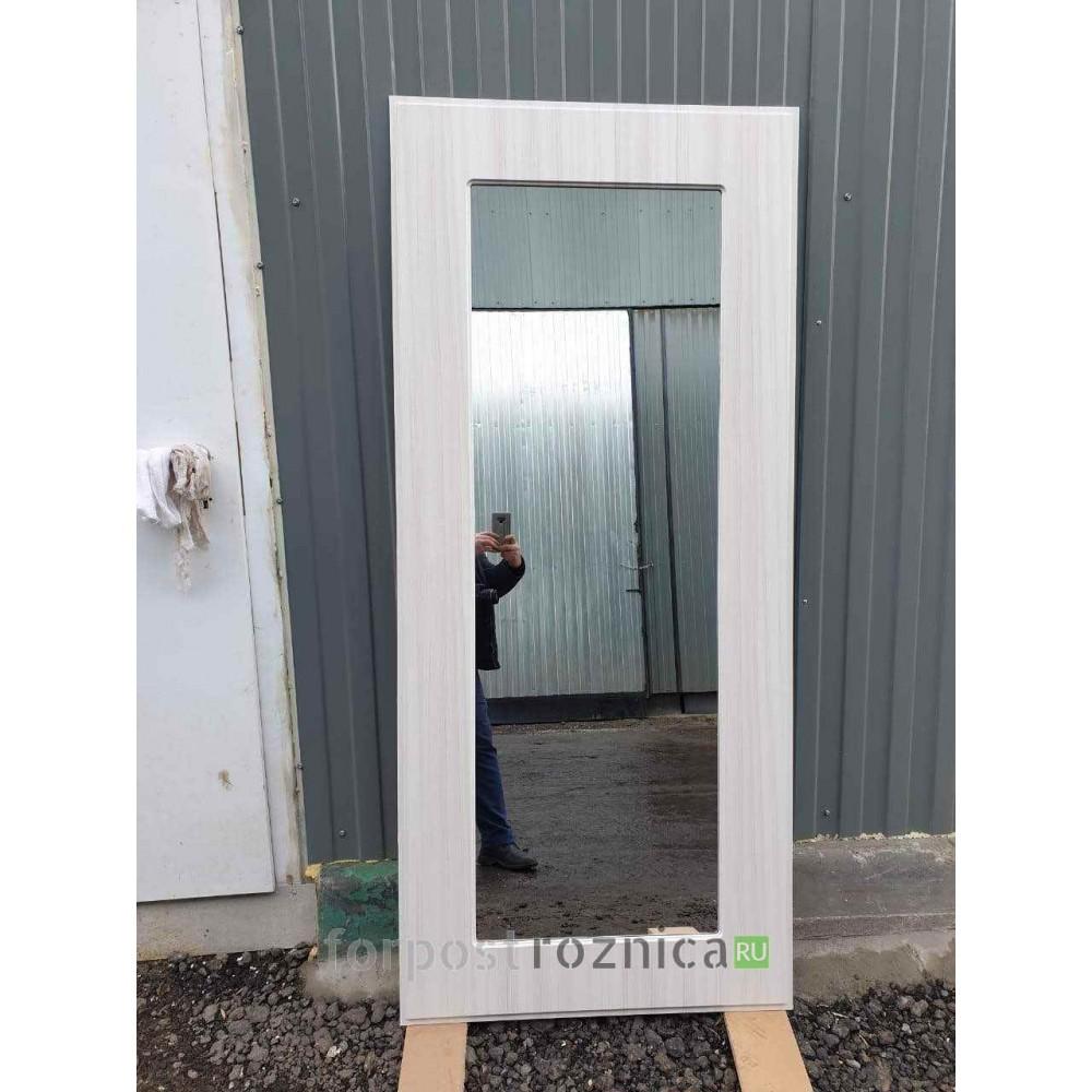 """Входная дверь REX 23 """"Пчела"""" Пастораль Сандал белый (с зеркалом)"""