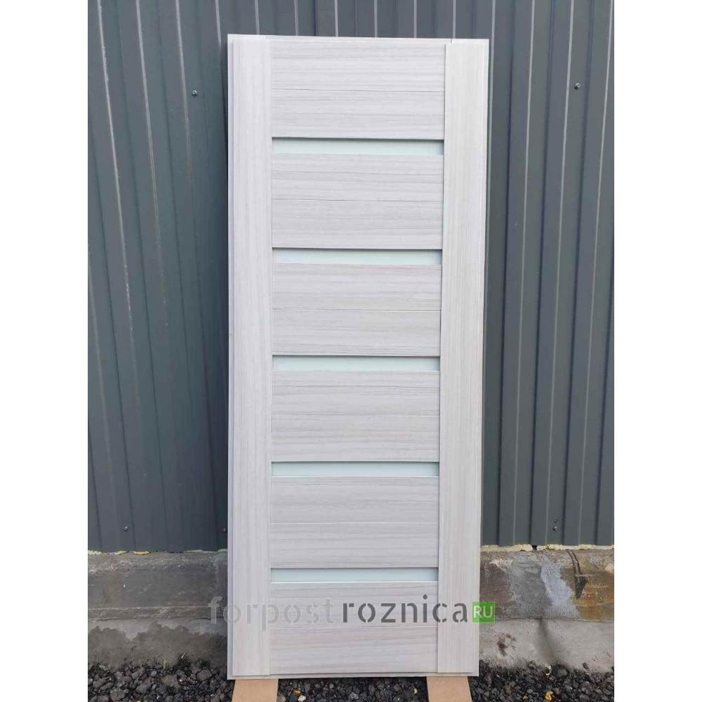 Входная дверь REX Премиум H венге сб-14 сандал белый белое стекло