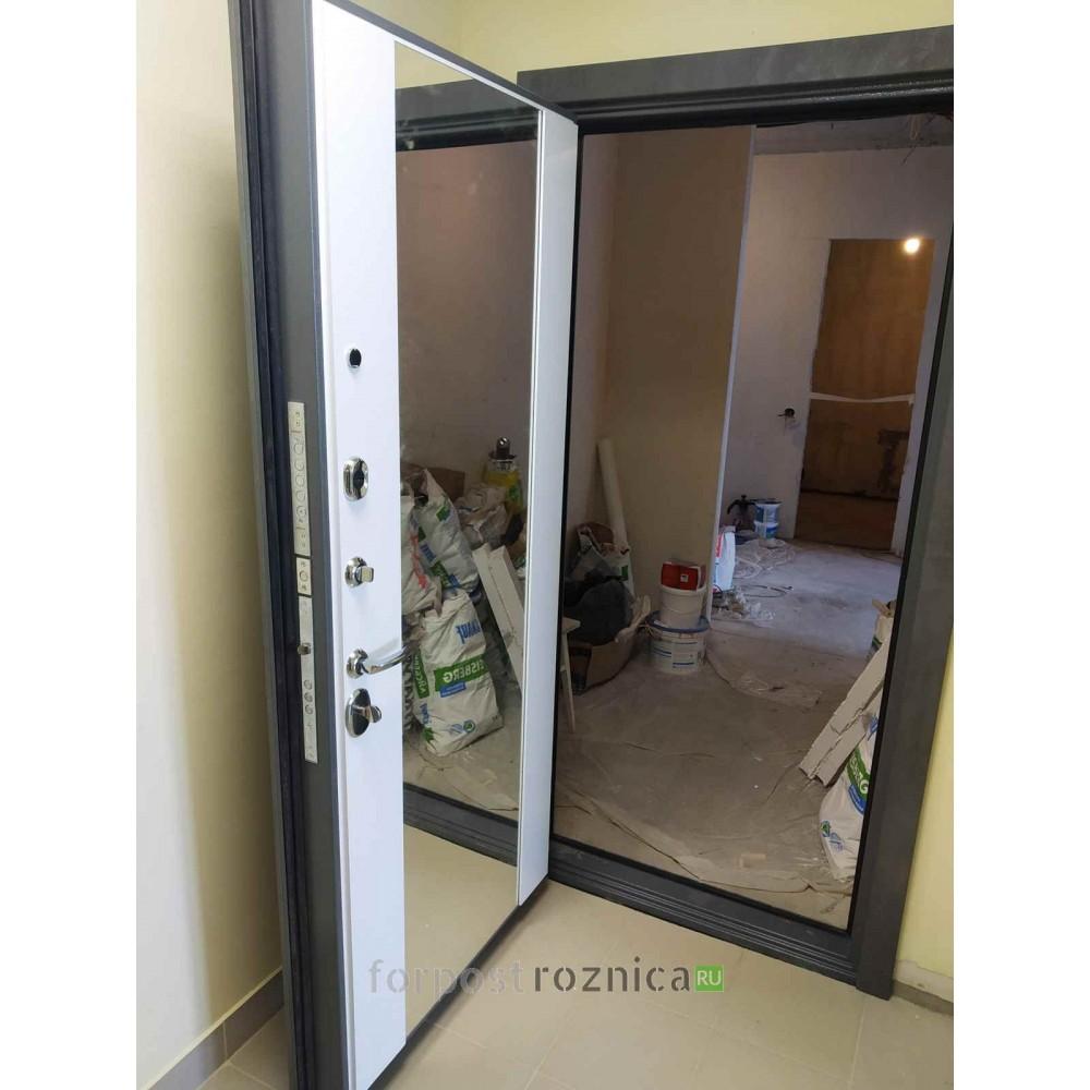 Входная дверь REX 23 Пчела СБ-16 с зеркалом Силк сноу