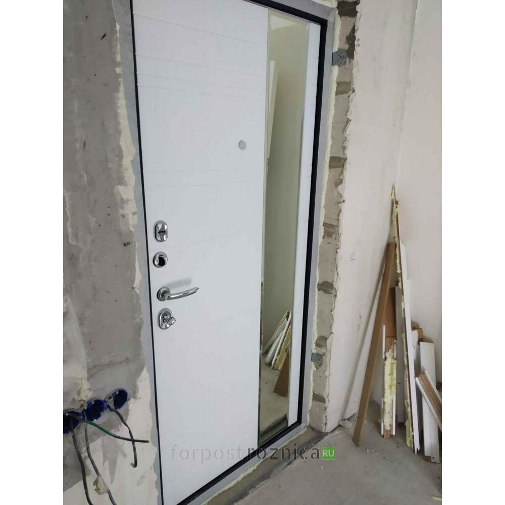 Входная дверь Континент Новелло Белая (утепленные)