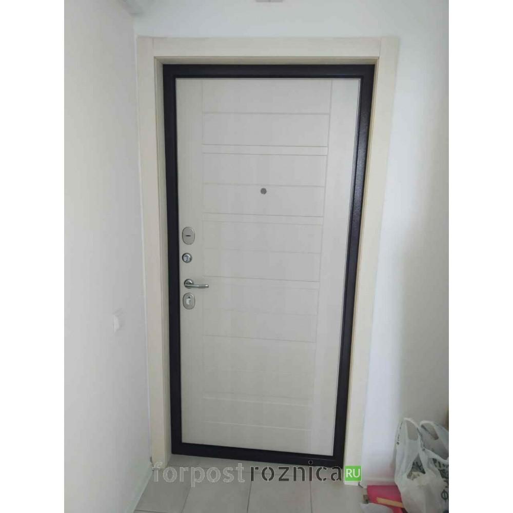 Входная дверь Ратибор Тренд 3К Лиственница беж