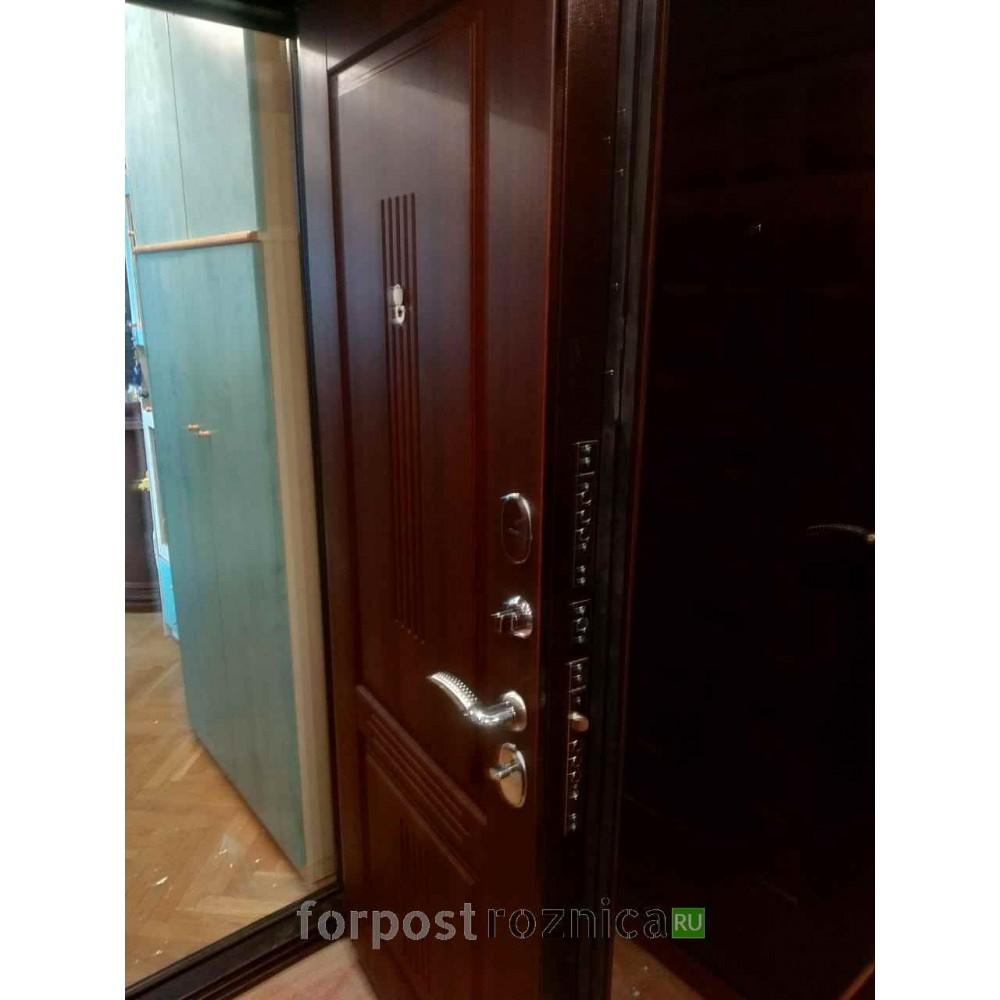 Входная дверь Ратибор Консул 3К Орех бренди (трехконтурные)