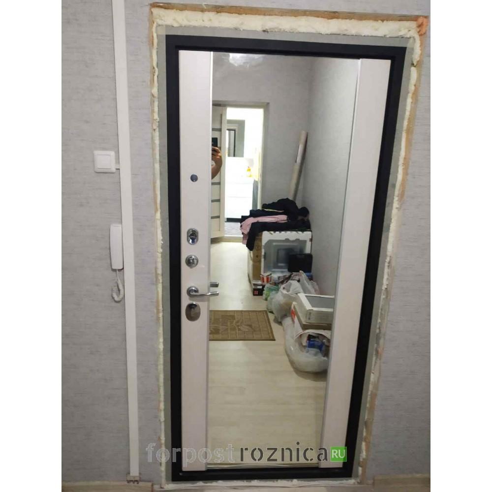 Входная дверь АСД  «ДУЭТ с зеркалом» (Трехконтурные)