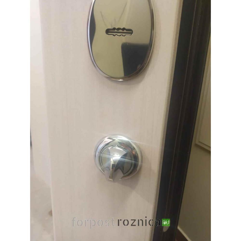 Входная дверь Лабиринт NEW YORK с Зеркалом Максимум - Сандал белый (утепленные)