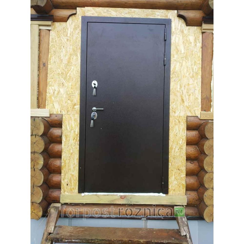 Металлическая входная дверь с терморазрывом для дома Лабиринт Термо Магнит 03 - Орех бренди (утепленные)